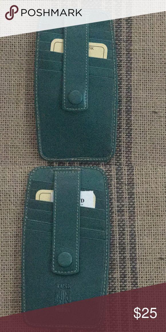 Tusk Credit Card Holder Dark green credit card holder. 6 slots on either side. T…