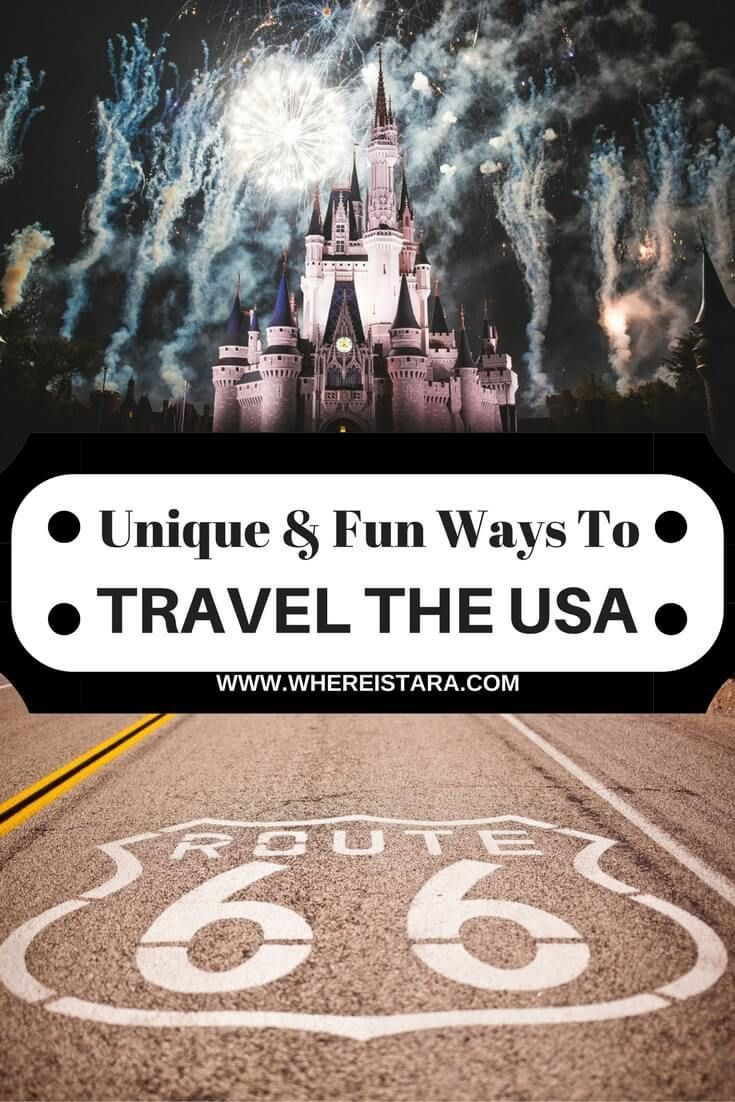 Unique and Fun ways to travel the USA. From English road trips to coastal drives and more. There are so many great ways to travel America.