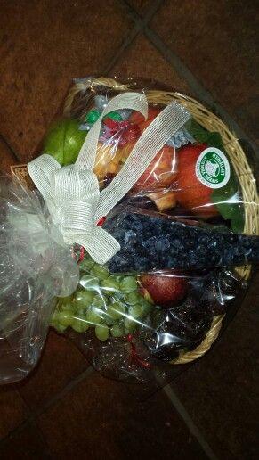Luscious fruit gift basket, mmm