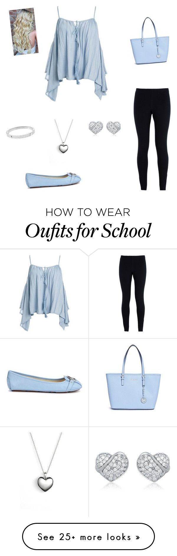 """""""School Tomorrow After I Have Been On Break"""" by lrsoccergal35 on Polyvore featuring Sans Souci, NIKE, Michael Kors and Pandora"""