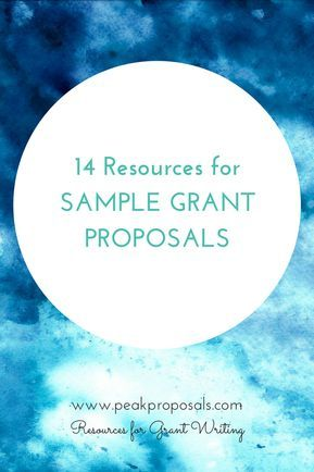 14 Resources for Sample Grant Proposals PADCA Seniors/Aged