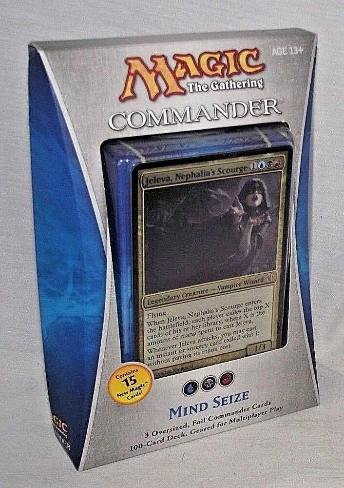 Magic Gathering Mind Seize 3 Oversized Foil Commander Cards