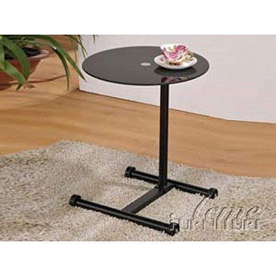 "Compact Black Round Glass Top Pedestal Laptop Stand by Acme Furniture. $84.59. Assembly required. Contemporary style. Adjustable black stand extends to 30""H. Shiny black glass top. Laptop Stand: 18""D X 12""-30""H. Perfect for small spaces, this portable table is contemporary and compact. Features an adjustable black metal stand with glass top. Suitable for a light laptop, drinks, or small books. Assembly required. Dimension: 18""Dia. x 12"" - 30""H"