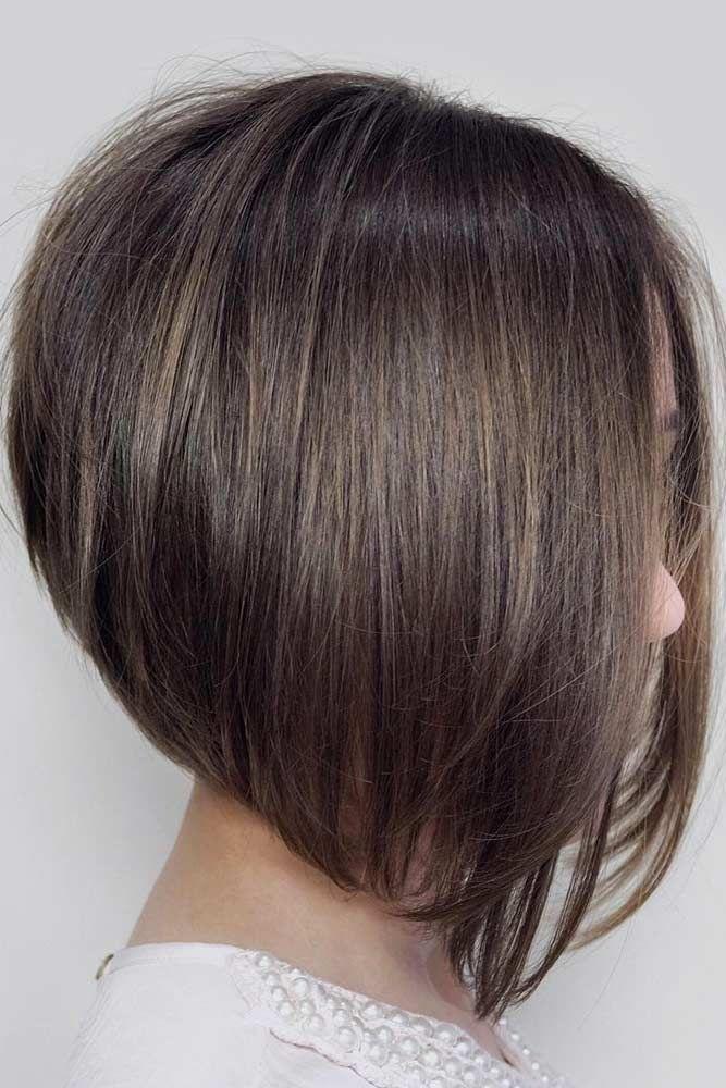 Beautiful Inverted Bob WIth Natural Brown Hair