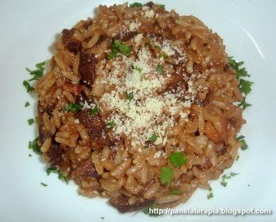 Risotto de Funghi e Bacon ~ PANELATERAPIA - Blog de Culinária, Gastronomia e Receitas