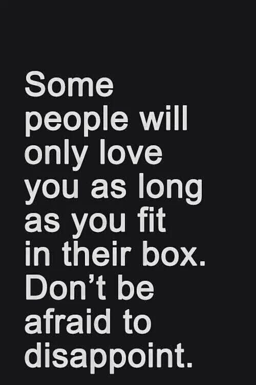 As Long As You Fit In Their Box.