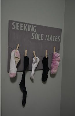 hahahahha <3 it ..must make for the laundry room love itDecor, Cute Ideas, Room Ideas, Laundry Rooms, House, Lost Socks, Laundryroom, Seek Sole, Sole Mates