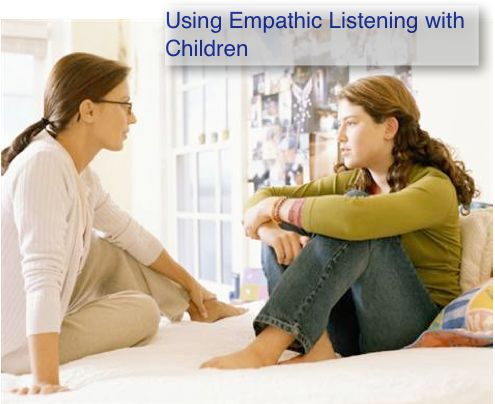 empathetic listening essay One reward would be the improved relationship between the speaker and the audience through the use of empathic listening learning to be an empathic listener means that we listen without judging and provide the other person with a forum to share what they believe or feel empathic listening is total.