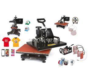 Advanced nuevo diseño 6 1 máquina de la sublimación, camiseta impresora digital, prensa del calor / de transferencia de calor, impresora de la máquina(China (Mainland))
