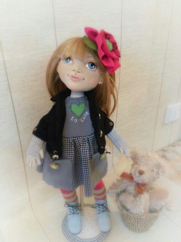 Текстильная авторская кукла София от Елены Гиббонс