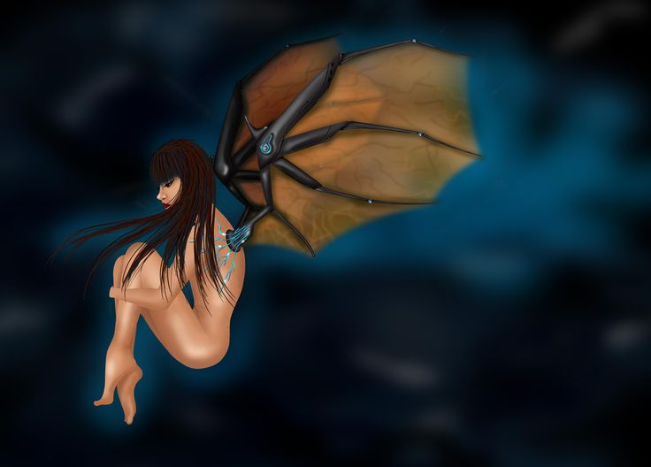 2D speed painting _ Fly girl