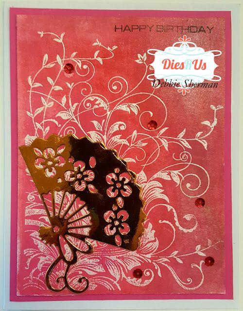 Dies R Us: Oriental Fan Birthday Card