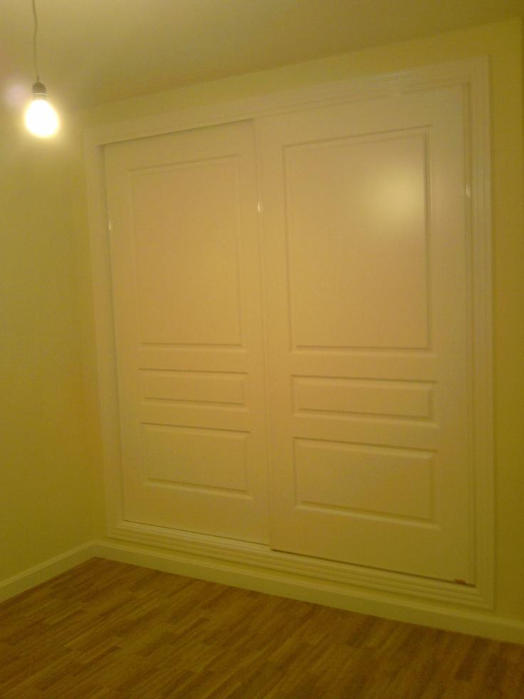 5430rtl lacado en blanco armarios de puertas correderas - Armario 3 puertas correderas ...