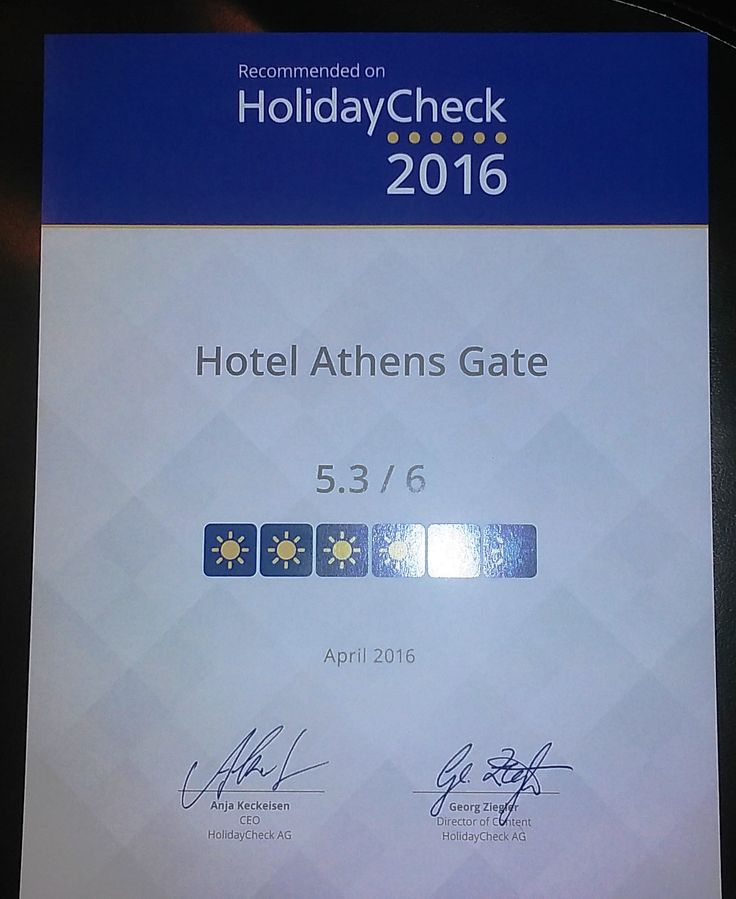 Awarded by HolidayCheck for 4 consecutive years!
