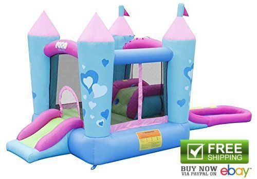 Tent N Table Inflatable Bouncers Pink Princess Bounce House Water Slide Backyard #TentandTable