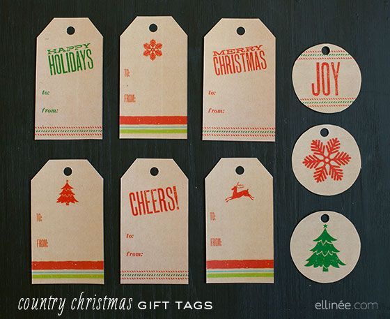 DIY 25 Printable Gift Tags