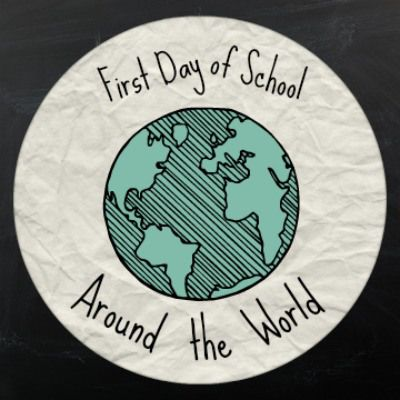 First Day of School Around the World- Kid World Citizen. Maybe I can find some books to help expand on this.  I like the idea of traveling around the world on the first day of school.