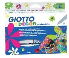 La creatività va su tutto, resiste al tempo e trasforma la casa e gli oggetti, con i pennarelli multi superficie Giotto Decor Materials!