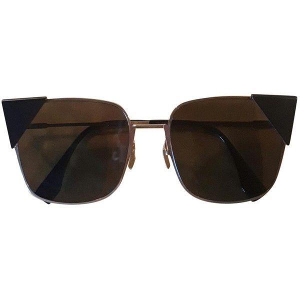 Pre-owned Fendi Sunglasses (3.389.360 VND) ❤ liked on Polyvore featuring accessories, eyewear, sunglasses, black, fendi sunglasses, fendi eyewear, fendi glasses and fendi