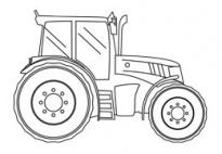 Completa le figure della fattoria-Trattore (b/n) da www.kigaportal.com
