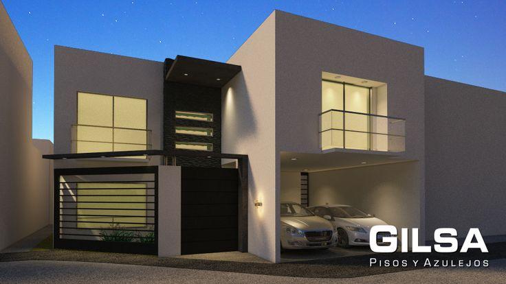 Fachada de estilo contempor neo materiales utilizados - Materiales de fachadas ...