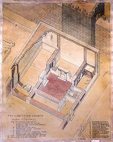 Isometric plan of the Christian building