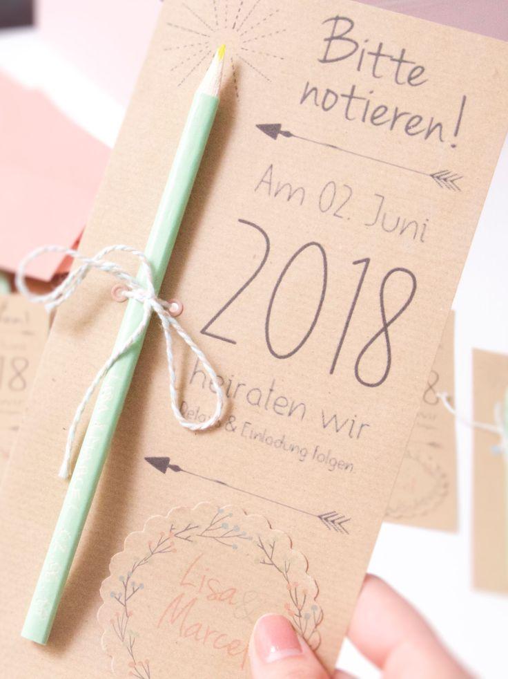 Safe the date karte Hochzeit wedding