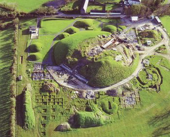 Knowth is a complex of prehistoric passage tombs just west of Newgrange in County Meath, Ireland