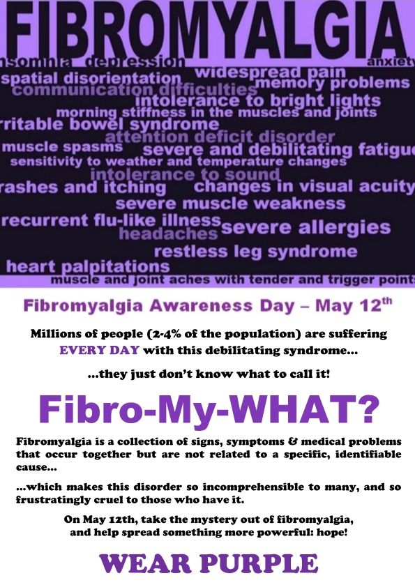 Fibromyalgia Awareness POSTERS | INVISIBLE ILLNESSES - FMS, CFS/ME ...
