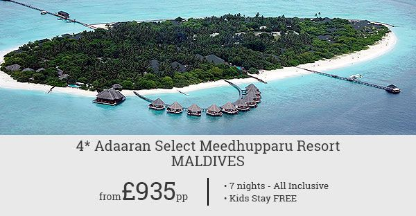 Book a luxury holiday at Maldives' Adaaran Select Meedhupparu Resort and your kids will stay for free! Exclusive Black Friday deal!