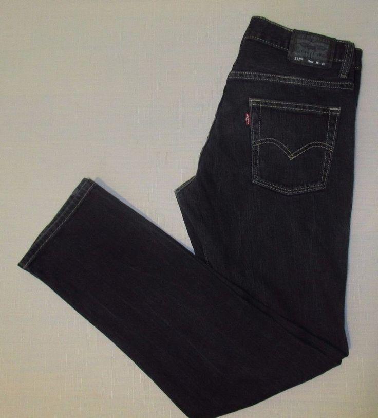 Men's LEVI'S 511 Slim Skinny Fit Jeans Size 29 x 29 Black #Levis #SlimSkinny