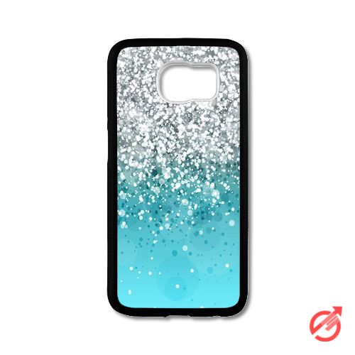 Silver Falling Sparkles On Light Blue Samsung Cases #iPhonecase #Case #SamsungCase #Accessories #CellPhone #Cover #samsung