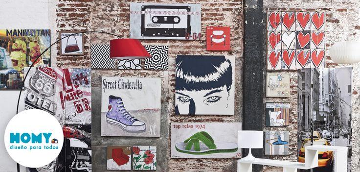 Decora tu pared con canvas y cuadros!