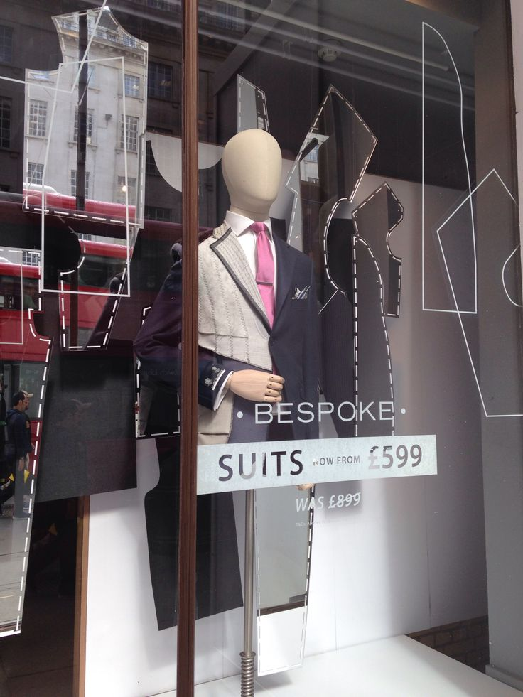 """BESPOKE,London,UK, """"Men's suits made to an individual buyer's specification by a tailor"""", pinned by Ton van der Veer"""