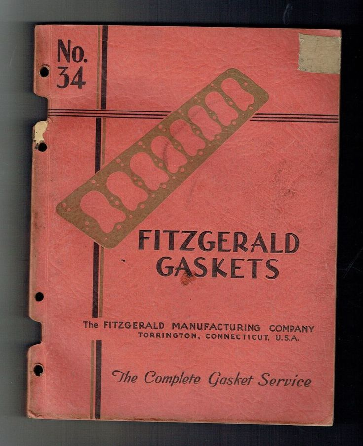 1930's FITZGERALD GASKETS CATALOG NO. 34 TORRINGTON CONNECTICUT!