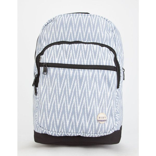 Roxy Grand Thoughts Backpack ($45) ❤ liked on Polyvore featuring bags, backpacks, grey, zipper bag, padded snowboard bag, roxy backpack, zip backpack and gray backpack