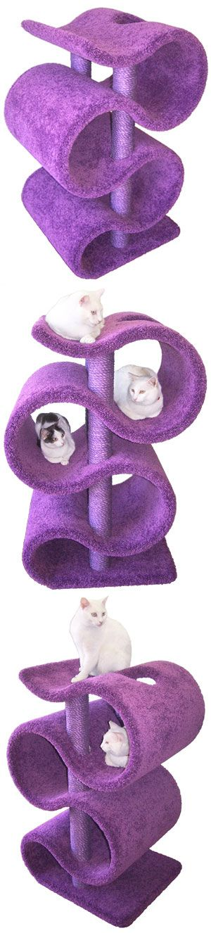 Ribbon Cat Tree - CatsPlay.com - Fun furniture, condos and climbing gyms for cats and kittens.