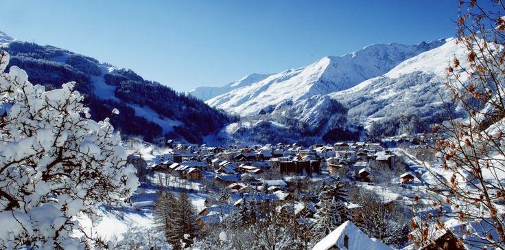 A view over the village at Valloire Ski Resort in France