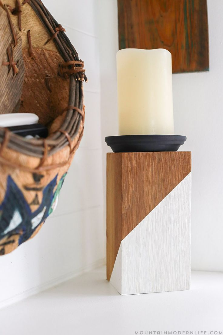 best  modern candles ideas on pinterest  candles beautiful  - diy rustic modern candle holders