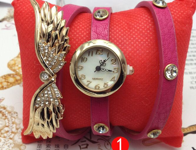 Cheap watch illuminated, Buy Quality wings lingerie directly from China watch pinky Suppliers: The design of this watch to the angel wings, is three times around the wrist strap, very fashionable modelling, for the