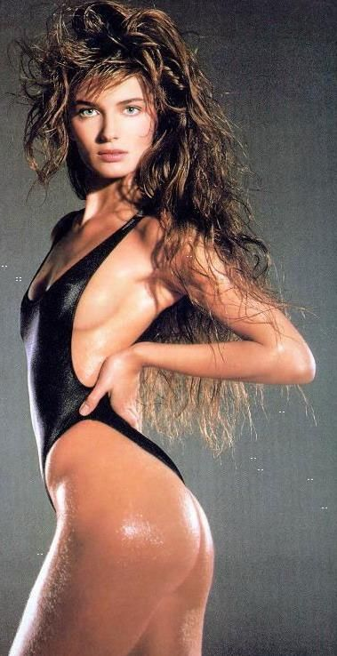 I had this poster on my closet door growing up, LOL! Paulina was one of my favorites! Paulina Porizkova, Photo by Marco Glaviano