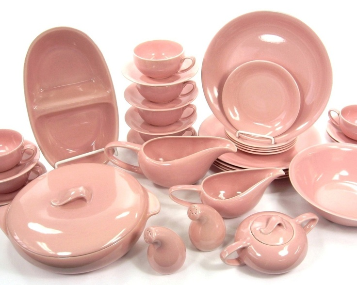 Love this!  Vernonware Casual Calif Pink 1950s Vintage Dinnerware 33 Piece Set California | eBay