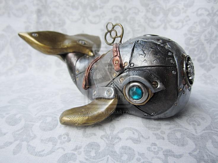 Steampunk - Industrial Whale 2a by artisme.deviantart.com on @deviantART