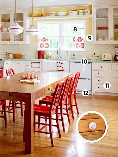 12 design ideas for a colorful retro kitchen atelier for Bibelots decoration cuisine