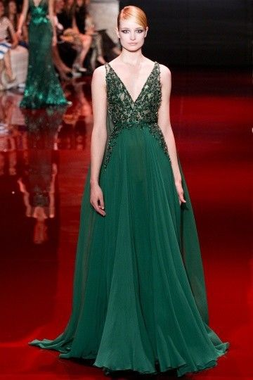 Abendkleider 2015 Elie Saab verde V Neck Sash frisados Cocktail vestidos de festa vestidos de noite em Vestidos de Noite de Casamentos e Eventos no AliExpress.com | Alibaba Group