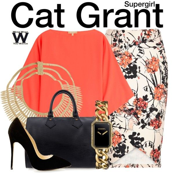 Inspired by Calista Flockhart as Cat Grant on Supergirl.
