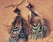feather earrings @Andy Brame i couldnt pull them off but you certainly could...after you make them of course!
