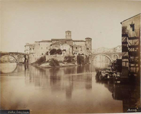1865/70 Mang Michele . Isola Tiberina