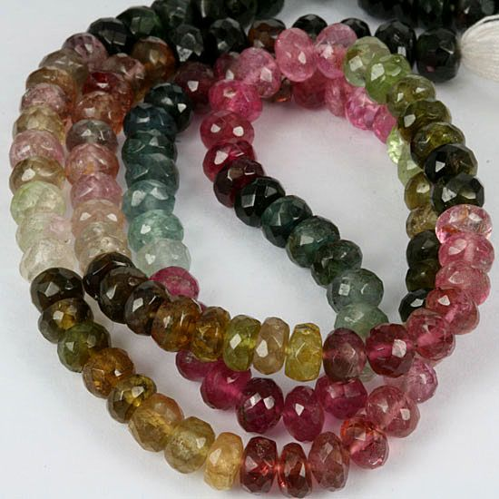 New high grade faceted tourmaline beads from Africa