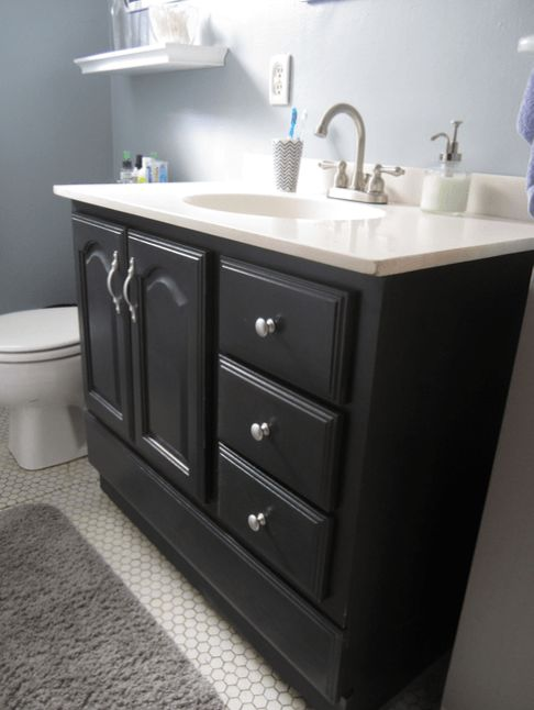 Refinishing Bathroom Vanity With Chalk Paint